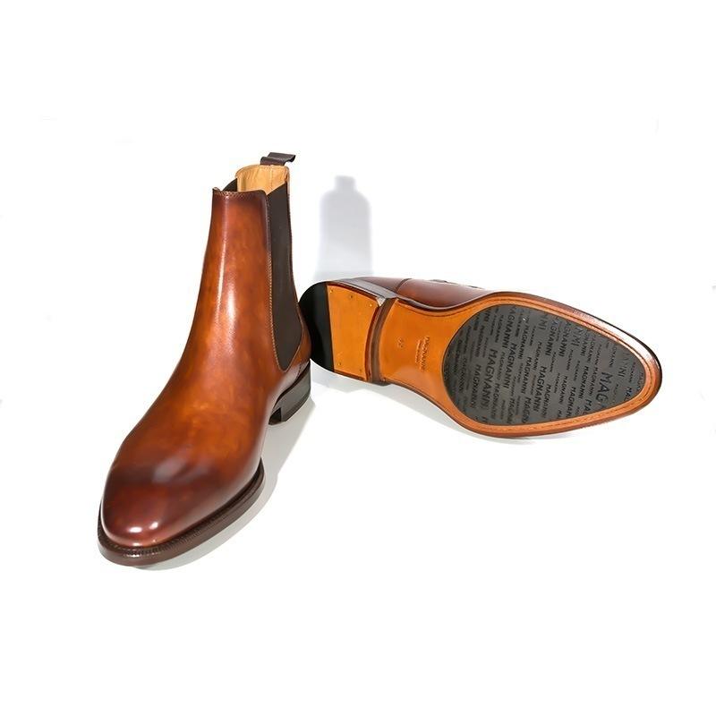 home footwear boots magnanni cognac chelsea boots. Black Bedroom Furniture Sets. Home Design Ideas