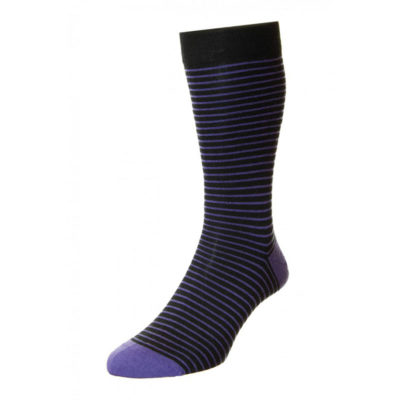Pantherella Stockwell Classic Stripe with Contrast Heel & Toe