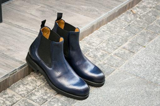 Berwick Muflone Nat Blue Chelsea Boots