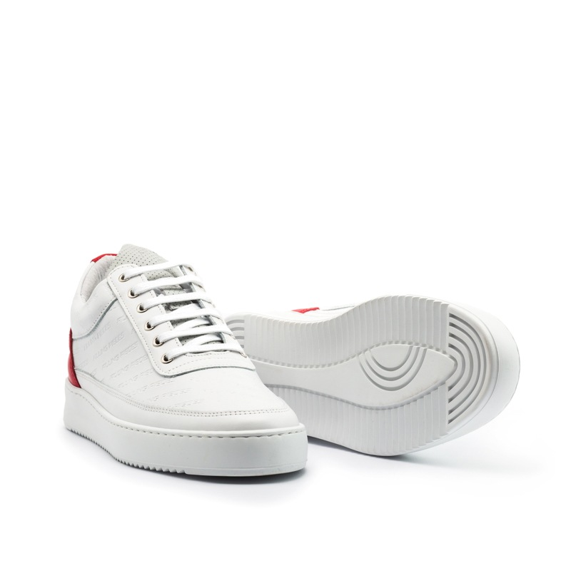 FP Low Top Ripple Hades White/Red