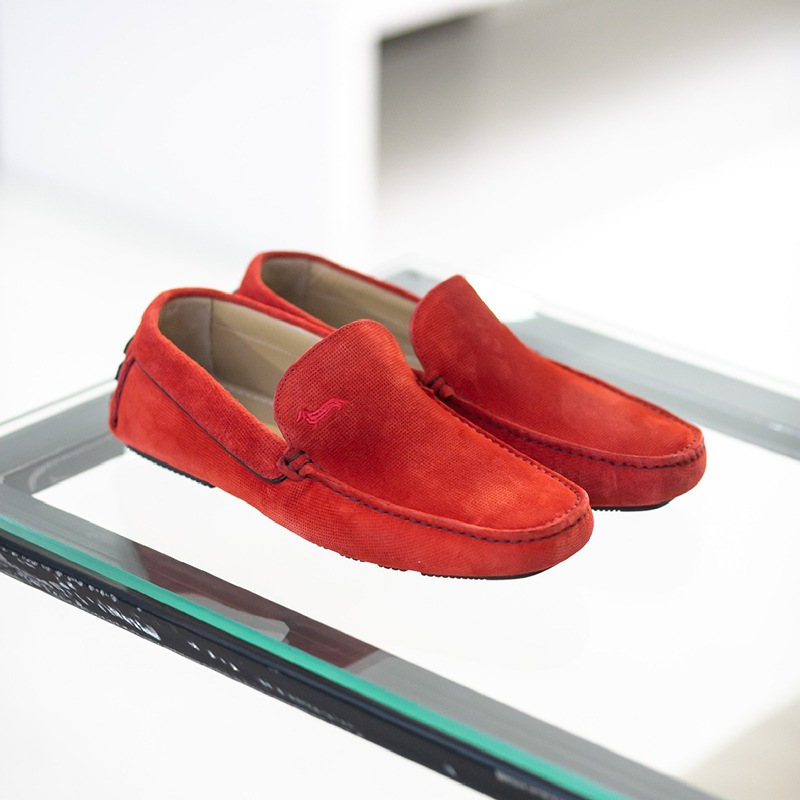 Harmont & Blaine Diamond Suede Red